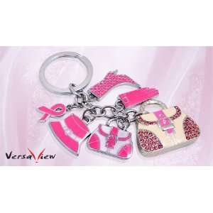 Pink BAG Shape USB Flash Driver With Crystal Rhinestone Electronics