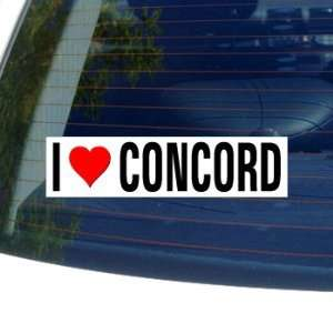 Love Heart CONCORD   New Hampshire Window Bumper Sticker Automotive