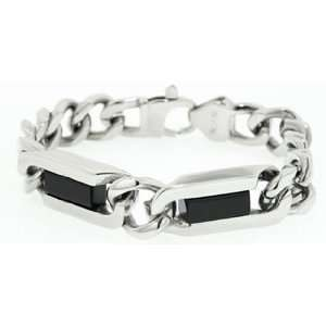 Mens Stainless Steel Curb Link Bracelet Jewelry