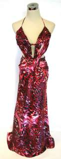 NWT WINDSOR $100 RED / Black Evening Formal Ball Gown 9