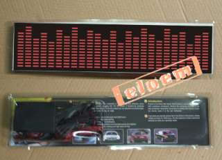Sound music Activated Car Stickers/equalizer glow light
