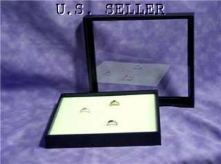 WHITE 36 RING CLEAR TOP JEWELRY DISPLAY CASE BOX