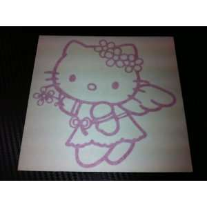 1 X Hello Kitty Angel Style Racing Car Decal Sticker