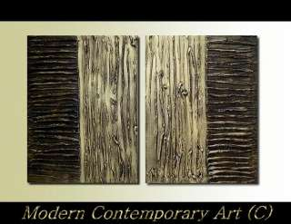 Original ABSTRACT MODERN ART Painting gold contemporary