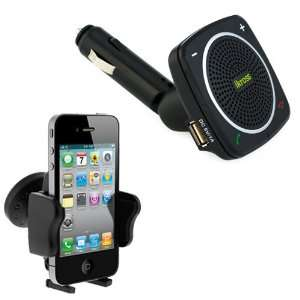 USB Charger Port + Small Car Vent Mount Holder for LG A340, CONNECT