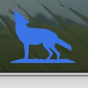 Howling Wolf Blue Decal Car Truck Bumper Window Blue