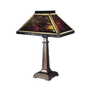 Tiffany Lighting 7994/739 Landscape Filigree Table Lamp in Antique