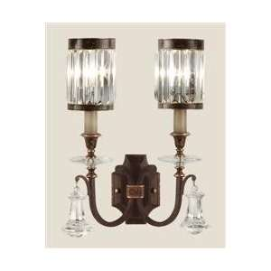 com Fine Art 583050 Rustic Iron Eaton Place Crystal Up Lighting Wall