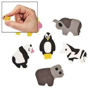 Mini Zoo Animal Erasers   Basic School Supplies & Erasers