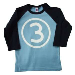 Happy Family Third Birthday 3/4 Sleeve Baby Boy Light Blue