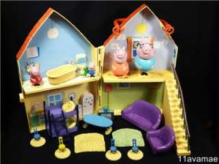 PEPPA PIG TOYS HOUSE COMPLETE WITH ALL ACCESSORIES AND FIGURES
