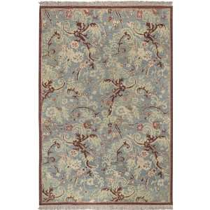 Sonoma Collection Sonoma 8989 Blue Brown Floral Area Rug 2