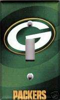 Green Bay Packers Single Light Switch Plate Cover   Green