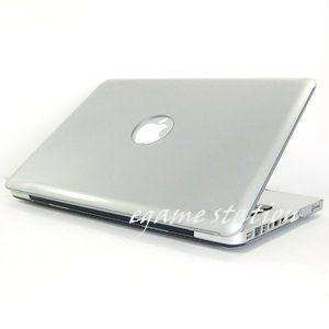 Silver Hard Case Cover For Macbook Pro 13 (Metallic Silver)