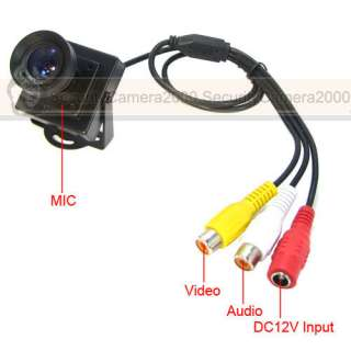 650TVL MIC Effio E DSP SONY CCD Color Video Camera Low Illumination