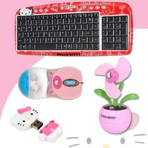 46009 + Hello Kitty USB Desktop Fan (Pink) #81109 FUS DavisMAX Bundle