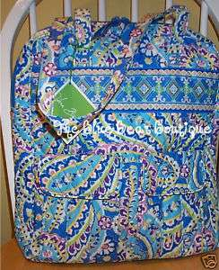 Vera Bradley Retired Capri Blue Tall Tote Bag Purse