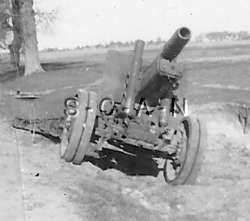 WWII German RP  Artillery  Captured Russian 152mm Gun