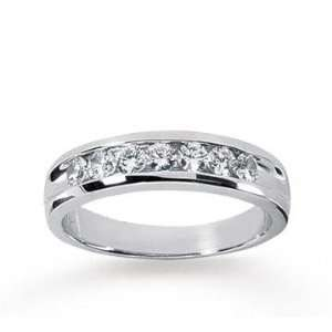 14k White Gold Sleek Trendy 0.70 Carat Mens Diamond Ring Jewelry