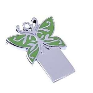 1GB Lovely Green Butterfly Metal Flash Drive Electronics