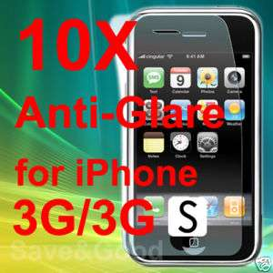 10X New Anti Glare Screen Protectors for iPhone 3G/3GS