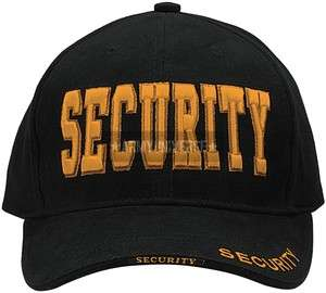 Black Security Gold Deluxe Low Profile Mesh Adjustable Cap