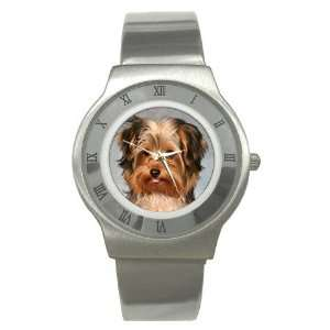 Yorkshire Terrier Puppy Dog 10 Stainless Steel Watch