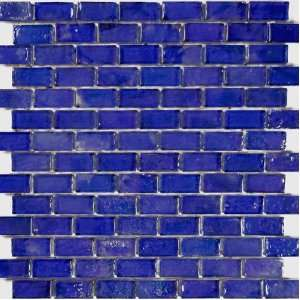 Glass Tile Cobalt Blue Textured Iridescent Glass Blend 1