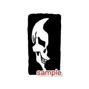 EVIL AND SKULLS SKULLS 13 12 WHITE VINYL DECAL STICKER