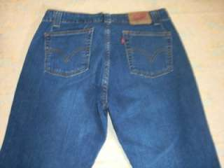 LEVI 525 NOUVEAU LOW BOOT CUT DENIM JEANS WOMEN 35/28