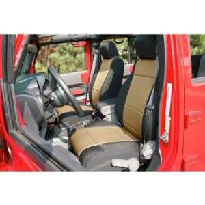 , Neoprene, Black with Tan Inserts, Jeep Wrangler JK 2011 Automotive
