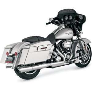 Vance & Hines Twin Slash Slip On Mufflers   Round 4 1/2in