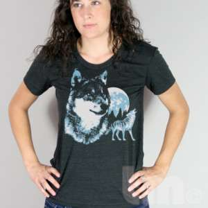 Vintage 80s Wolf American Apparel TR301 Wolves T Shirt