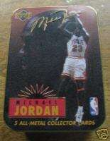 UPPER DECK MICHAEL JORDAN ALL METAL COLLECTOR CARDS 5