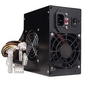 Watt 20+4 pin Dual Fan ATX Power Supply with SATA (Black) Electronics