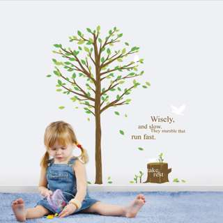 GREEN TREE Mural Art Wall Sticker Removable Vinyl Decal