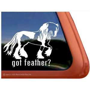 Got Feather? Gypsy Horse Trailer Vinyl Window Decal