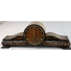 Vintage German Art Deco Mantle Clock Hermle FHS Beech