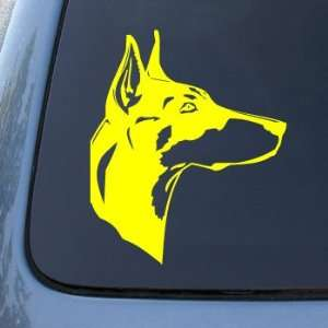 com DOBERMAN HEAD   Dog   Vinyl Car Decal Sticker #1507  Vinyl Color