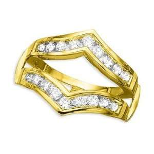14K Yellow Gold Diamond Ring Guard (1 ctw) DivaDiamonds