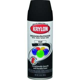 Flat Black 12 oz. Krylon Decorator Indoor/Outdoor Aerosol Spray Paint