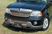 2003 2004 LINCOLN NAVIGATOR 2PC VERTICAL Z GRILLE GRILL