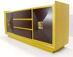 Large Art Deco Two Tone Sideboard Bar Cabinet