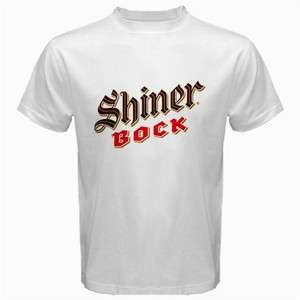 SHINER BOCK BEER LOGO New White T Shirt