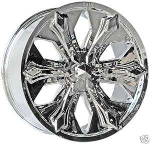 24 & 22 CHROME CENTER CAP RIMS WHEELS CALLI 504