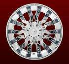 22 RockNStarr 615 CHROME WHEELS Black Inserts Rims Tires PKG 5X120