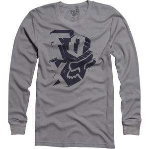 Fox Racing Whacky Thermal Long Sleeve T Shirt   Small/Grey Automotive