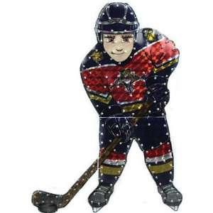 NHL Florida Panthers Lighted Hockey Player Car Window Decoration