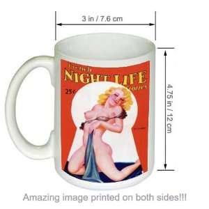 French Night Life Stories Vintage Pinup Art COFFEE MUG
