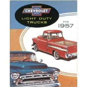 1957 CHEVROLET TRUCK Sales Brochure Literature Book